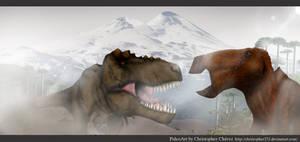 T-rex Vs Edmontosaurus by Christopher252