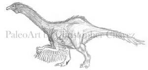 sketch Deinocheirus