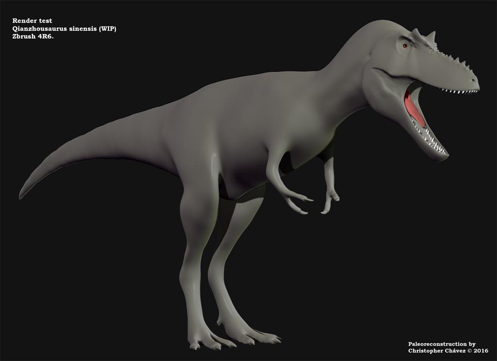 Qianzhousaurus sinensis (wip) 2 by Christopher252