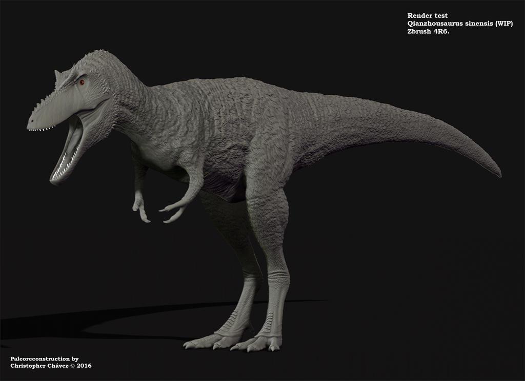 Qianzhousaurus sinensis by Christopher252
