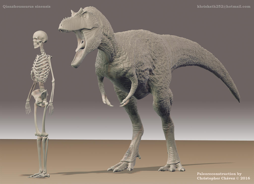 Qianzhousaurus sinensis 2 by Christopher252