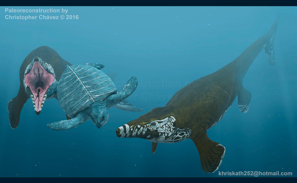 Tylosaurus Hunting by Christopher252
