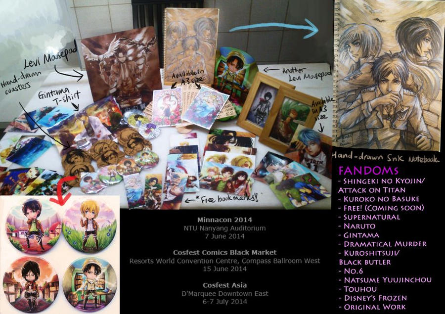 Merchandise for Conventions by Keyade