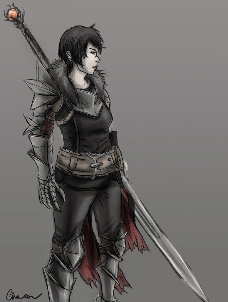 Lady Hawke -sketch- by Chacou