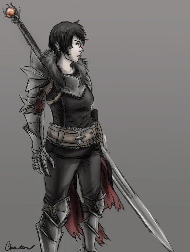 Lady Hawke -sketch- by Chacou