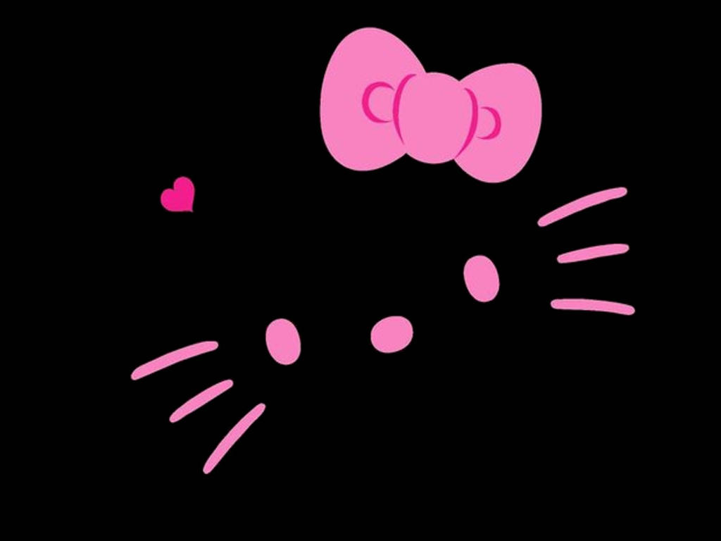 black hello kitty wallpaper by lillysim