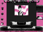 black and pink desktop