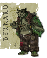 Bernard the Bugbear Bardbarian Burglar by MrGwynplaine