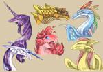 Mane 6 dragonified