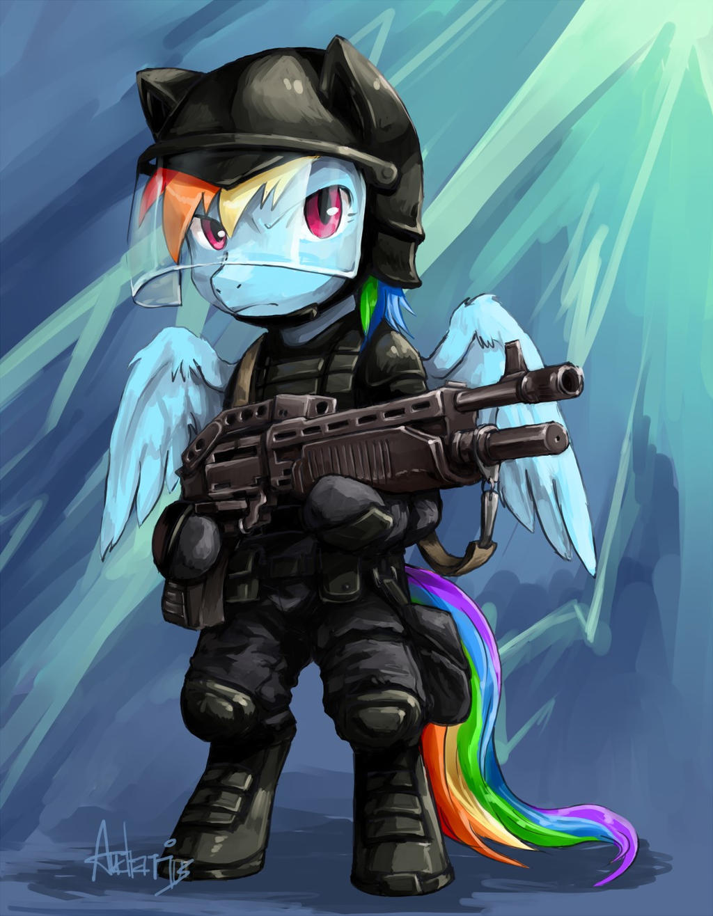 Rainbow In Gear by Audrarius