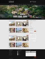 Real Estate website Black Them by fahadnaeem