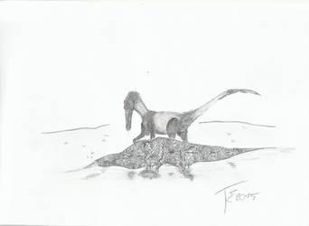Buitreraptor vs Iguanodon baby