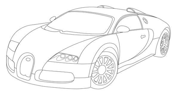 Drawing Bugatti Veyron Step Step
