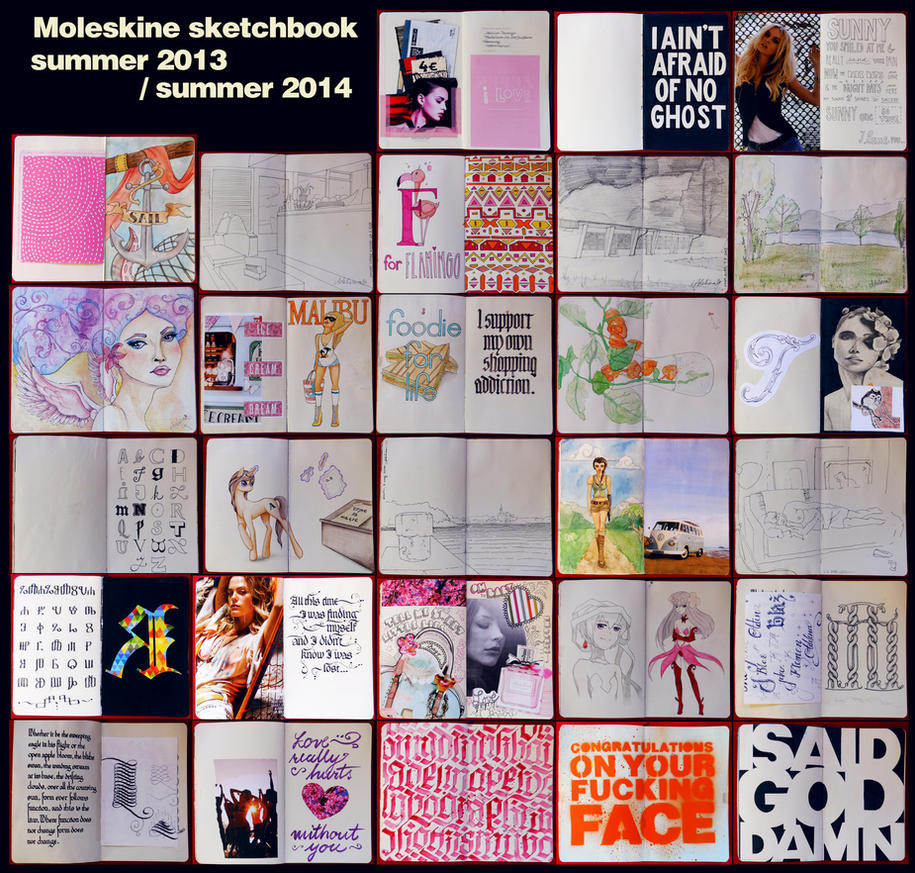 A year of Moleskine by WhiteSylver