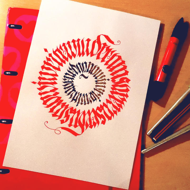 Calligram IV by WhiteSylver