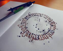 Calligram V by WhiteSylver