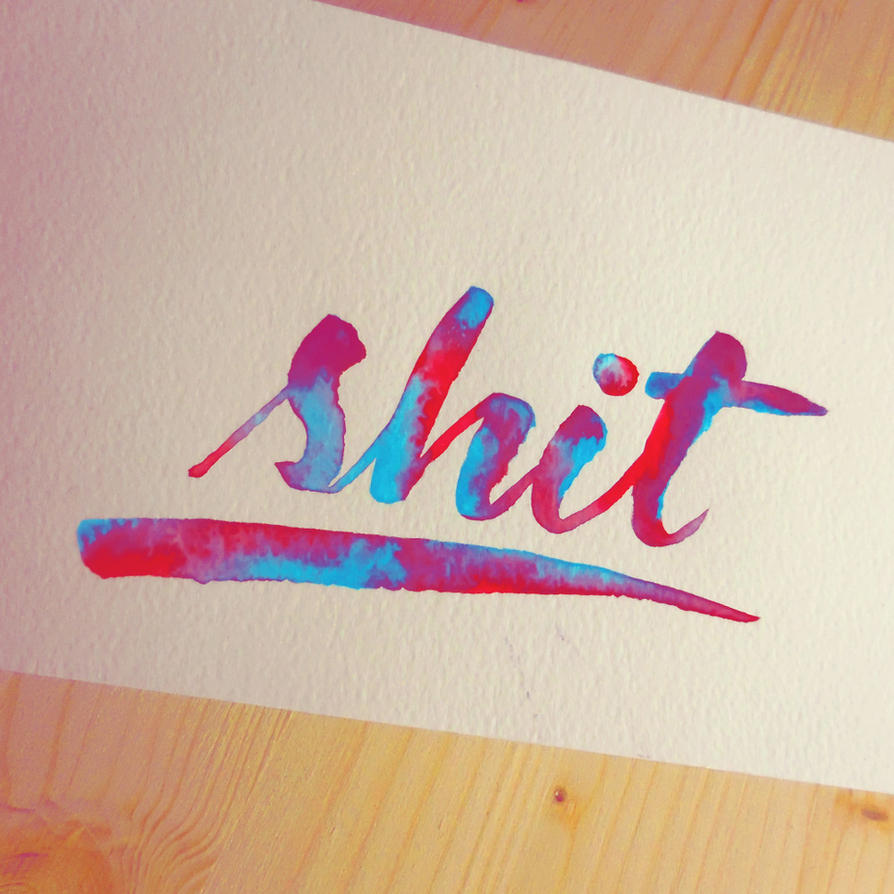 Rainbow lettering by WhiteSylver