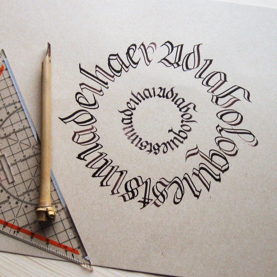 Calligram - split broadnib pen by WhiteSylver