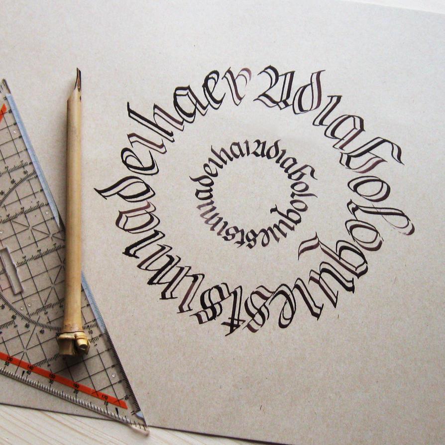 Calligram - split broadnib pen by WhiteSylver