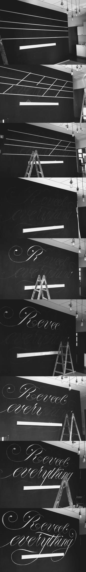 Reveel Mural Lettering WIP by WhiteSylver