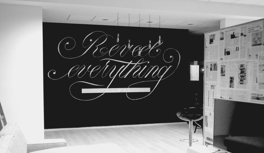 Reveel mural lettering by whitesylver on deviantart for Mural lettering