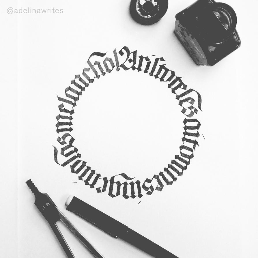More Circle Calligraphy Untitled By Whitesylver On