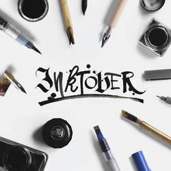 Calligraphy Inktober 2017