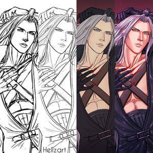 Sephiroth Pin-Up - WIP Compilation