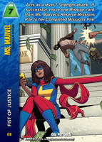 Ms. Marvel Special - Fist Of Justice by overpower-3rd