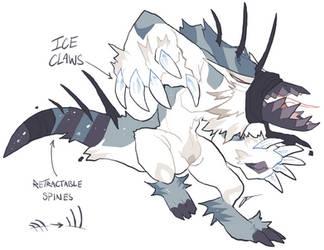 Ice monster adoptable - Flatsale - OPEN