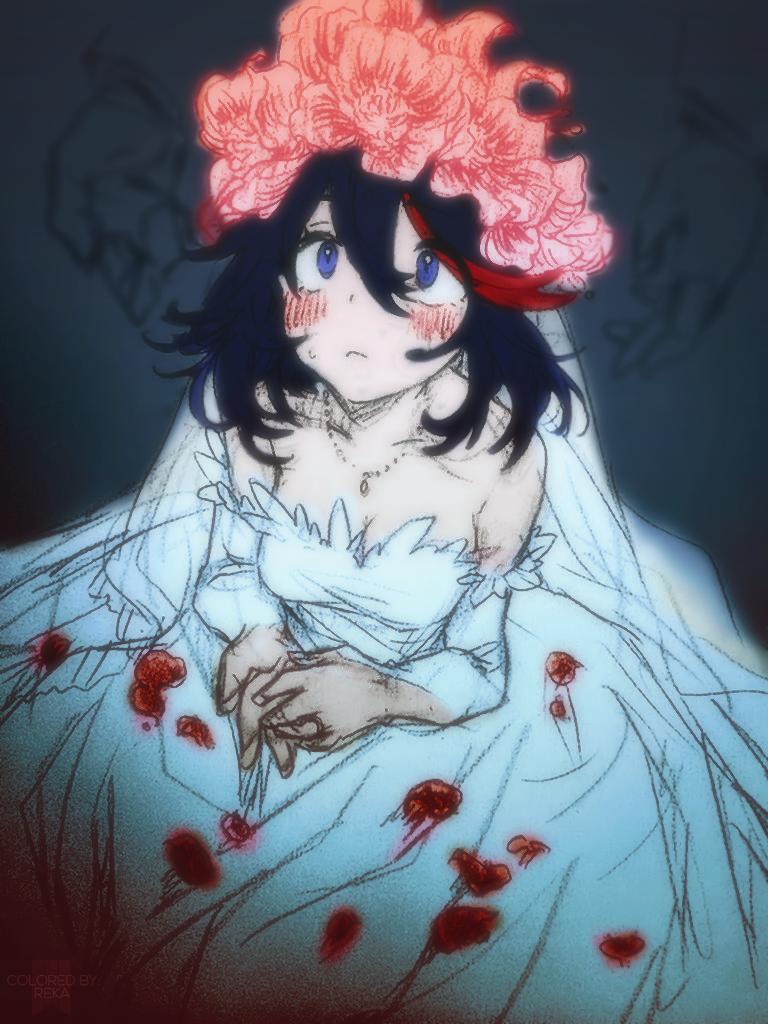 Ryuko Matoi in Wedding Dress (KILL la KILL) by RekaVM