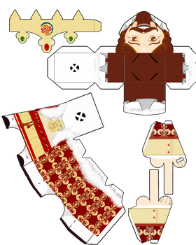The King Paper Toy - template