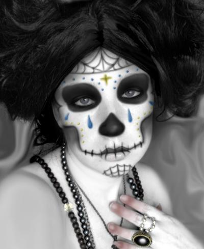 Halloween makeup test by Archer-1