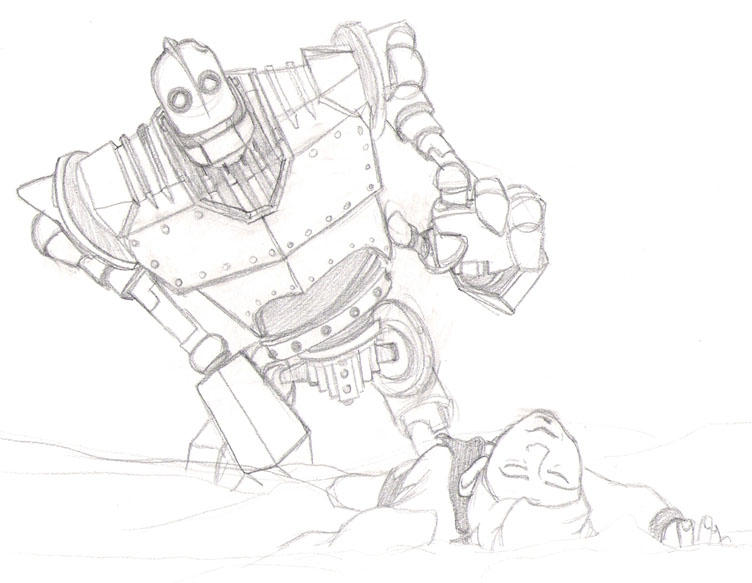 coloring pages iron giant boy - photo#5