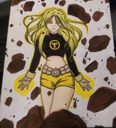 Terra Teen Titans by WildrageArt