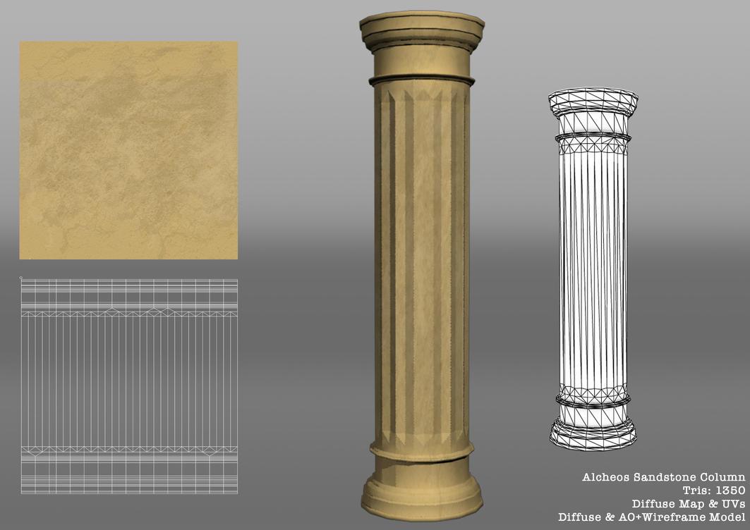 Archeos Sandstone Column by SoulChainXIII