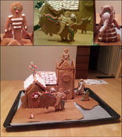 Gingerbread house 2 by KnifeInToaster