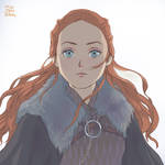 Just said by eyes : Sansa Stark