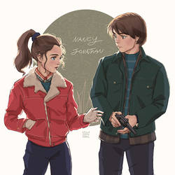 Stranger things: Nancy and Jonathan