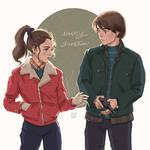 Stranger things: Nancy and Jonathan