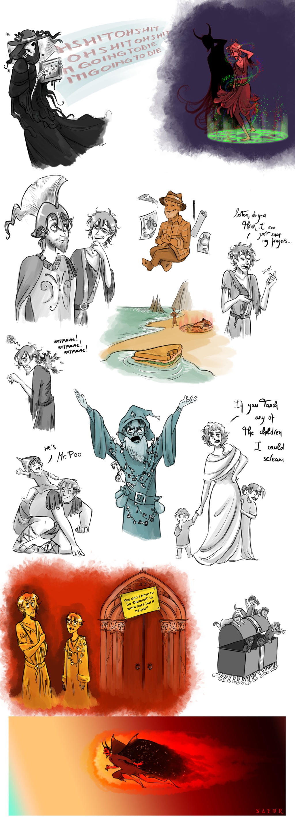 Discworld sketchdump - Faust Eric by StormBay
