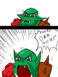 Angry Ork by clint73