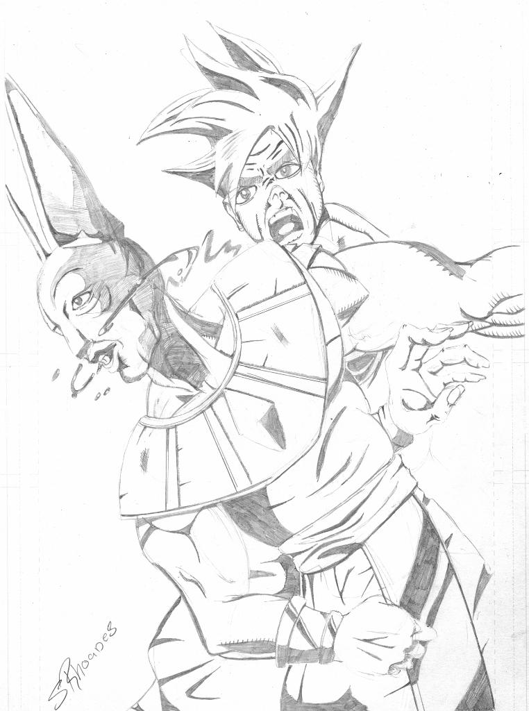 Goku Vs Bills By S Rhoades On Deviantart