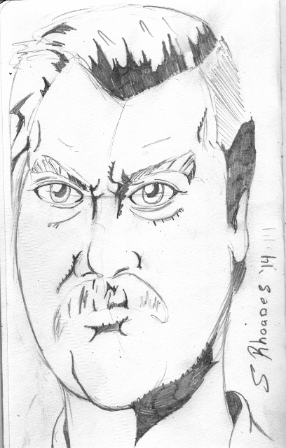Ron Swanson and the Mustache of Mount Doom by s-rhoades