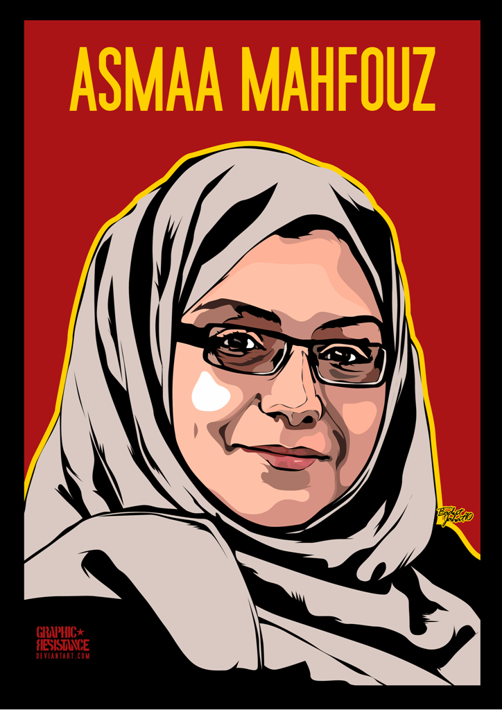 Asmaa Mahfouz by graphic-resistance