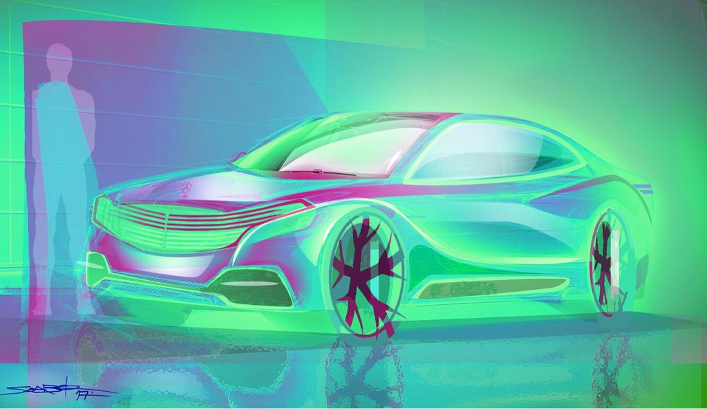 Mercedes sketch by szabodesign1