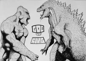 God vs King by TheGreatestLoverArt
