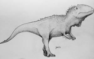 Giganotosaurus by TheGreatestLoverArt