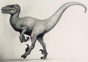 JP Female Velociraptor  by TheGreatestLoverArt