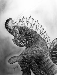 Puttin on a Laza show Shin Godzilla by TheGreatestLoverArt